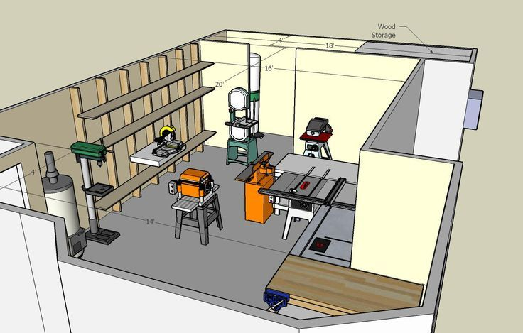 Woodworking Shop Floor Plans | View the Photo Gallery