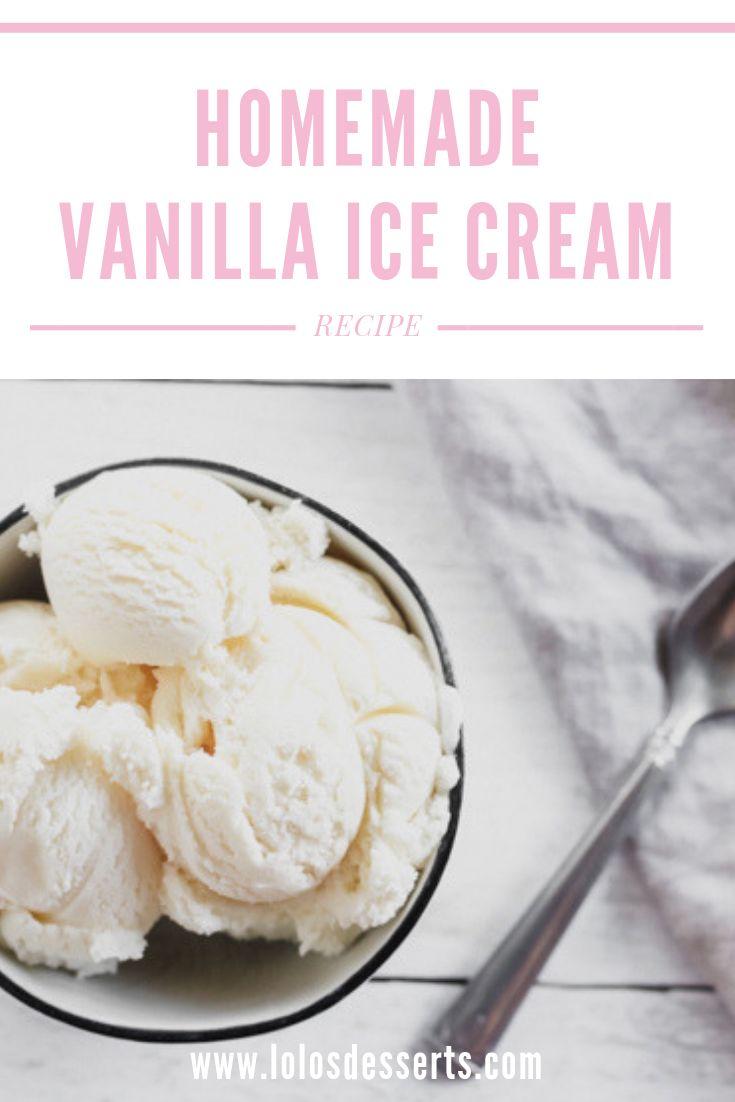 Einfaches, klassisches Vanilleeis Nichts ist besser als ein Klassiker und nichts …   – 4th of July Dessert Recipes