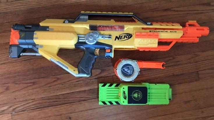 Nerf Stampede ECS Motorized Dart Gun Toy 18 Dart Ammo Clip 18 Dart Drum Clip    eBay