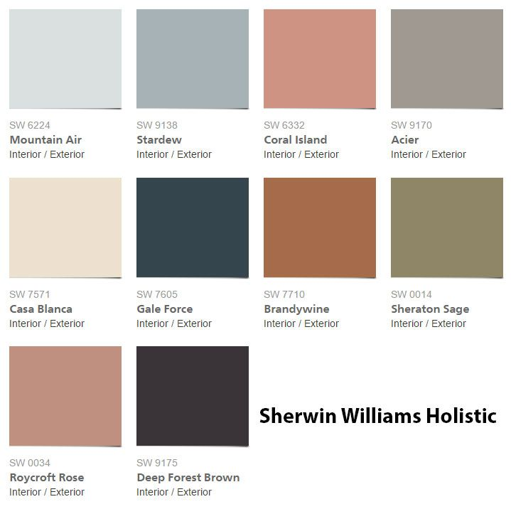 williams holistic sherwin williams paint colors pinterest colors. Black Bedroom Furniture Sets. Home Design Ideas
