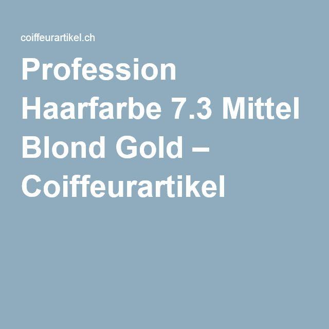 Profession Haarfarbe 7.3 Mittel Blond Gold – Coiffeurartikel