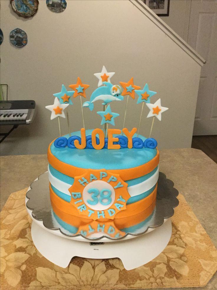 "My ""Miami Dolphins Cake"".....made by Carolina Furness..."