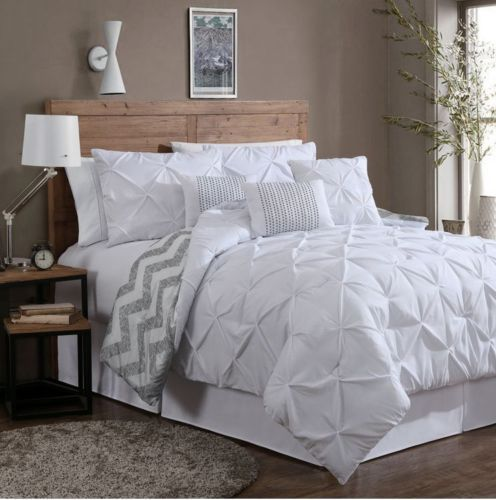 queen size comforter set 7 pc bedding bedspread bedroom decor pillow shams white the o 39 jays. Black Bedroom Furniture Sets. Home Design Ideas