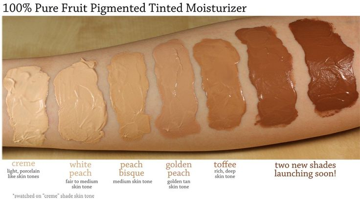 100% Pure Tinted Moisturizer Swatches
