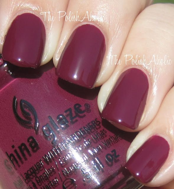 China Glaze Fall 2012 On Safari Collection Swatches - Purr-fect Plum