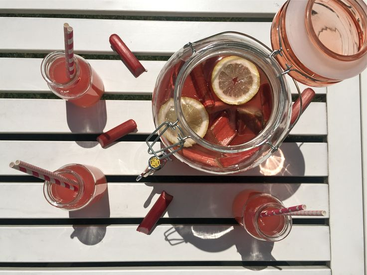 Lemonade- cute delicious drink. Rhubarb lemonade, Tasty, refreshing and quench pink lemonade, rhubarb, lemonade, pink lemonade,