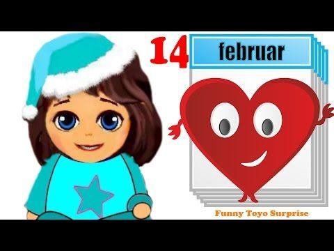Happy Valentine's Day Cartoon Animation with Anna & Elsa Frozen Dolls Video Kids - YouTube