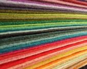 FELT - Wool Felt Sheets - Choose Any Twenty (20) - Wool Blend Felt. $20.00, via Etsy.