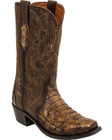 Lucchese Maple Dwight Caiman Cowboy Boots - Square Toe | Sheplers