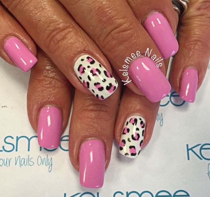 Youngnails maniq overlay with leopard design