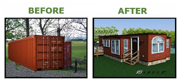 SHIPPING CONTAINER HOMES WITH SLIDE OUTS - ''BUILT IN BC CANADA'' - Park Model RV Trailer Shipping Container Home