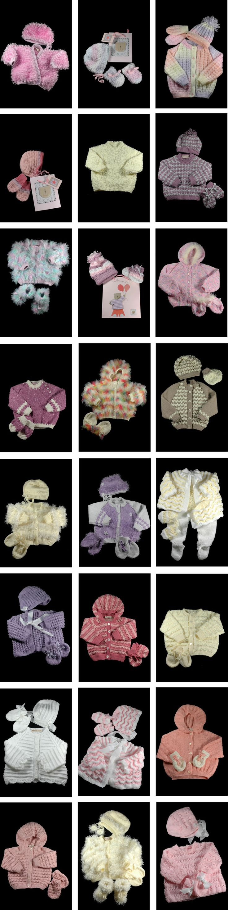 SHEILA'S HAND-KNITTED BABY CLOTHES - girls