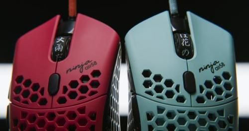 Finalmouse Air58 Ninja Cherry Blossom Red Blue Final Mouse