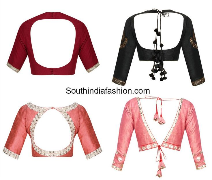 latest saree blouse back neck designs photo