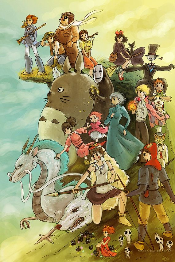 Studio Ghibli My Favs Are Ponyo Kikis Delivery Service Howls Moving Castle Spirited Away Neighbor Totoro And Mononoke Hime Ive Only Seen