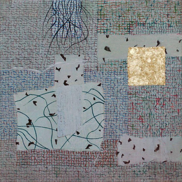 'Unravel 34'' acrylic, conté and metallic leaf 30 x 30 cms Taylor Galleries, Dublin