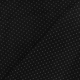 Tissu velours milleraies mini pois noir x 10cm