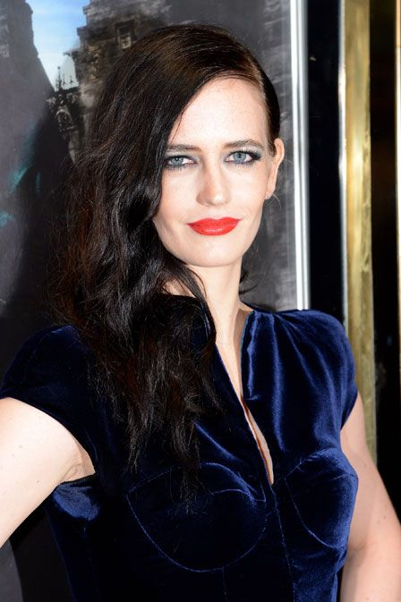 The Look: Eva Green, the goddess herself: smokey lined eye, red lip.