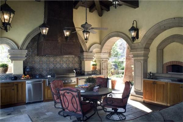 Traditional victorian colonial outdoor kitchen by for Traditional outdoor kitchen designs