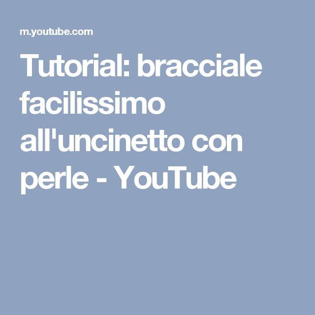 Tutorial: bracciale facilissimo all'uncinetto con perle - YouTube