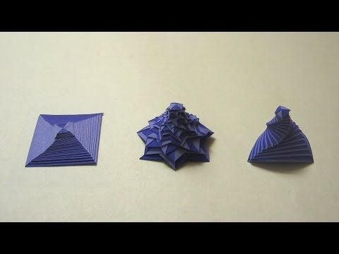 ▶ Origami Instructions: Single Strip Square Curlicue (Assia Brill) - YouTube