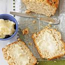 Buttery Honey Beer Bread with Honey Butter - Cookie Monster Cooking