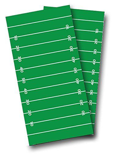 Football Field CORNHOLE WRAP SET High Quality Vinyl Board...