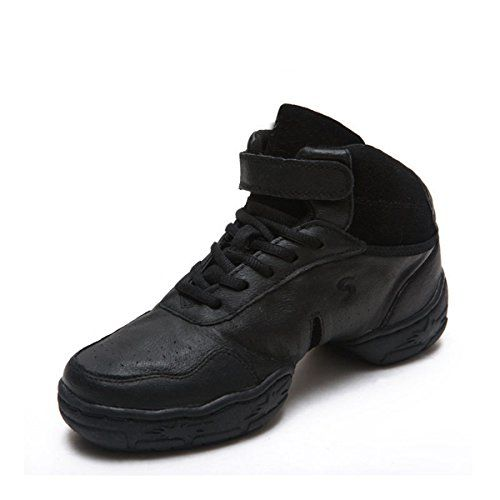 Miyoopark KS8803 Womens Laceup Black Leather Modern Jazz Dance Shoes Sports Fitness Sneakers US 85 * Continue to the product at the image link.(This is an Amazon affiliate link)