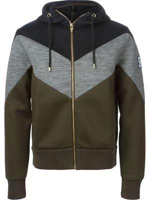 chevron pattern hoodie