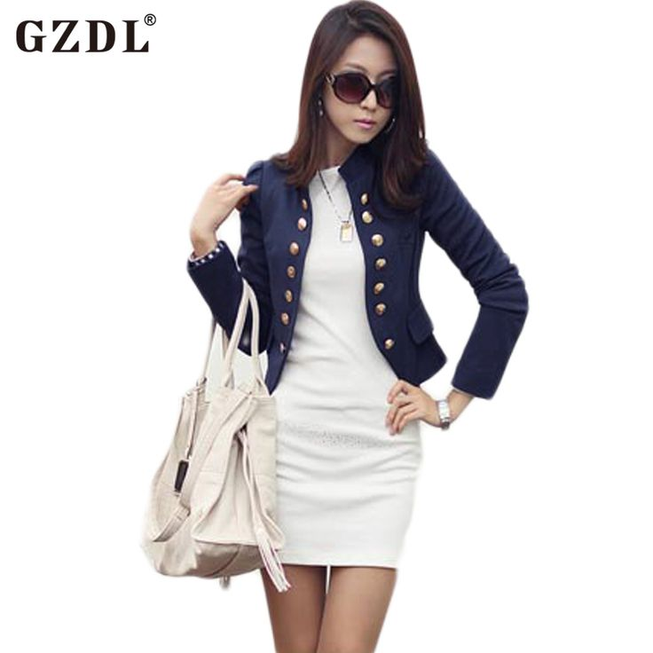 2016 5 Colors Spring Autumn Cardigan Women Long Sleeve Double Breasted Coat Casual Cropped Top Small Short Jacket Coat CL1076