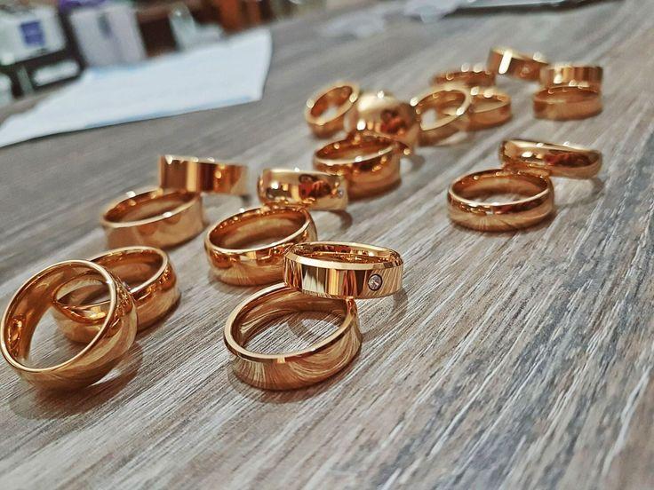 Alianças de tungstênio Noivado e casamento