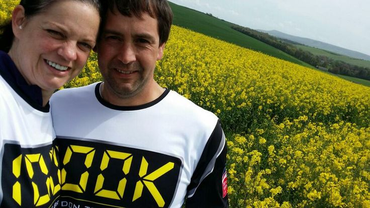 Nikki and Mike training together for #Walk100! We are loving the tshirts!  If you would like to donate please visit their Just Giving page: http://www.justgiving.com/StrideOnTime