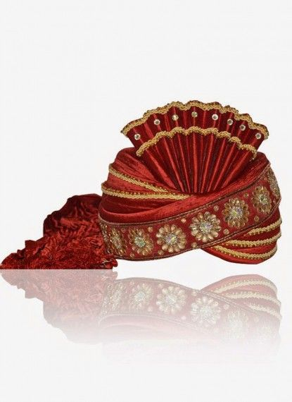 Rose Madder Red Rawsilk Turban