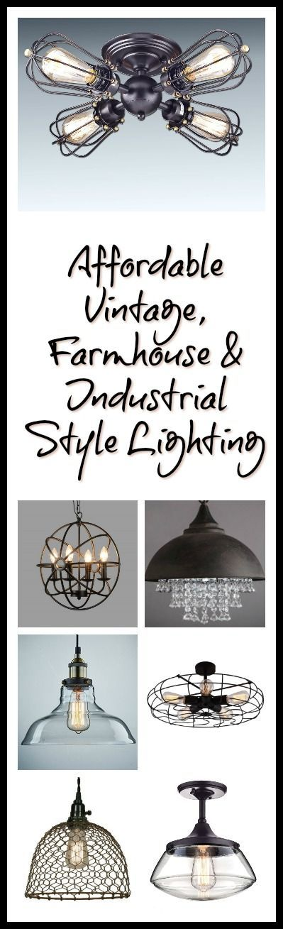 Vintage, farmhouse and industrial style lighting (scheduled via http://www.tailwindapp.com?utm_source=pinterest&utm_medium=twpin&utm_content=post103171513&utm_campaign=scheduler_attribution)