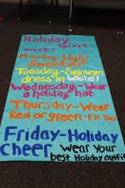holiday spirit week ideas - Google Search                                                                                                                                                                                 More