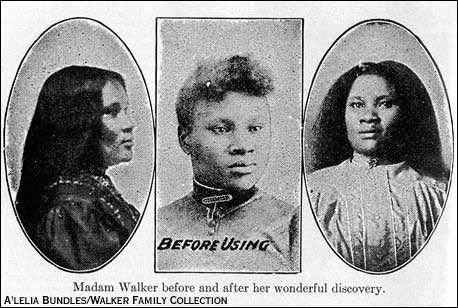 madam cj walker hair products | to promote her product