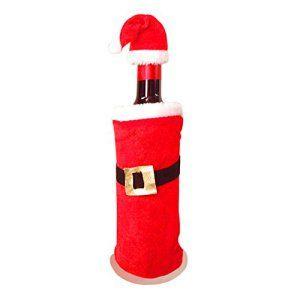 CHIC-CHIC Sac Bonnet Vin Couvercle Bouteille/cache-bouteille Père Noël Décoration Christmas Décoratif
