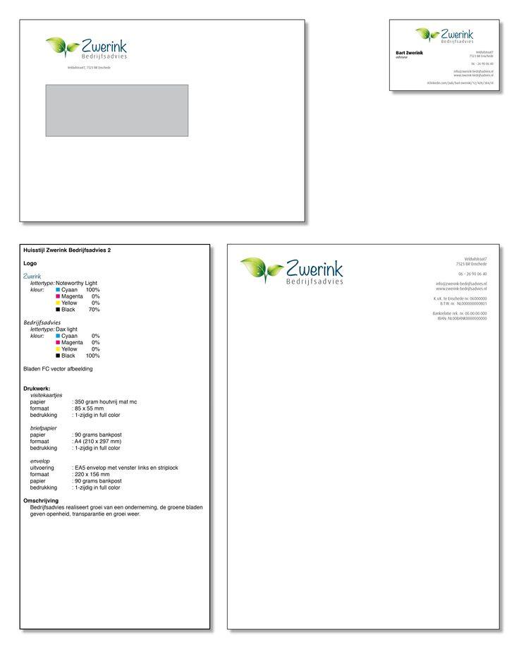 Presentatie ontwerp huisstijl Zwerink Bedrijfsadvies no: 2