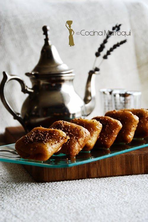 Nueva Cocina Marroqui: Rghaifs de Meknes. Un dulce tipico que sirve perfectamente para las Navidades.