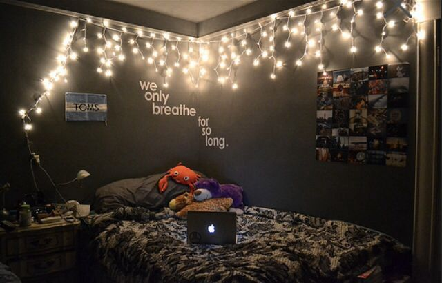 bedroom ideas and fairy light tumblr