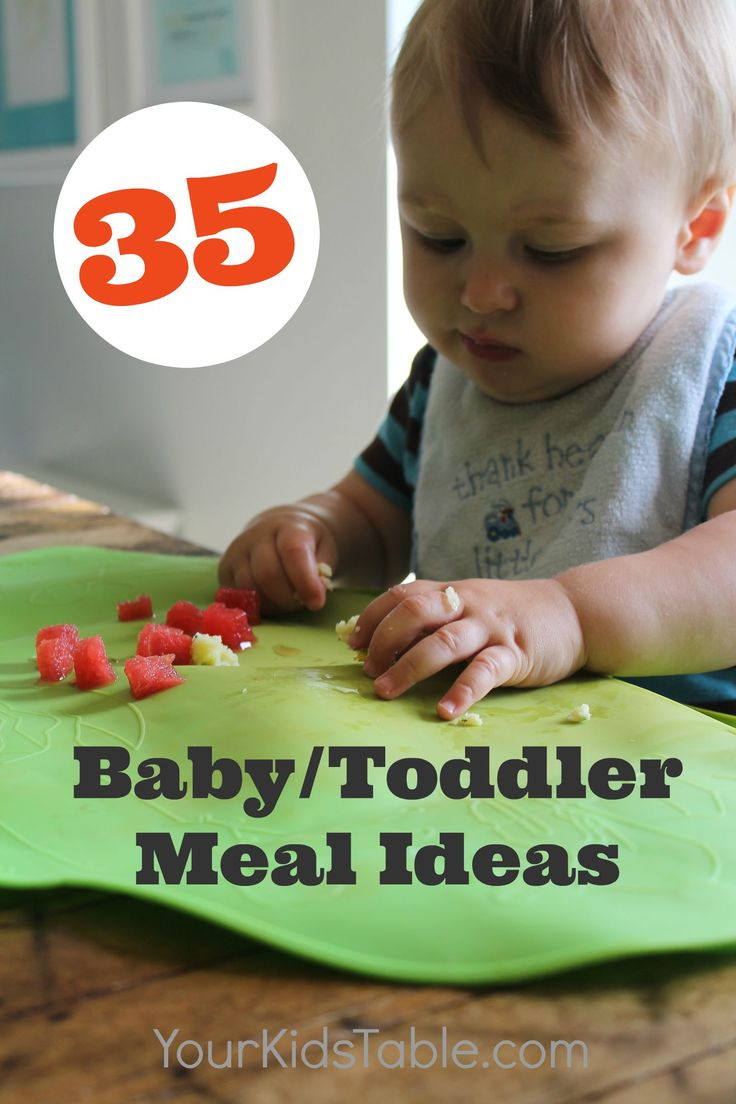 Huge list of meal ideas for a baby/toddler. Perfect for baby led weaning, transitioning to table foods, or toddlers. Meals the whole family can eat.
