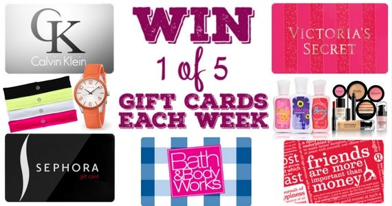 Win 1 of 5 Gift Cards Every Week