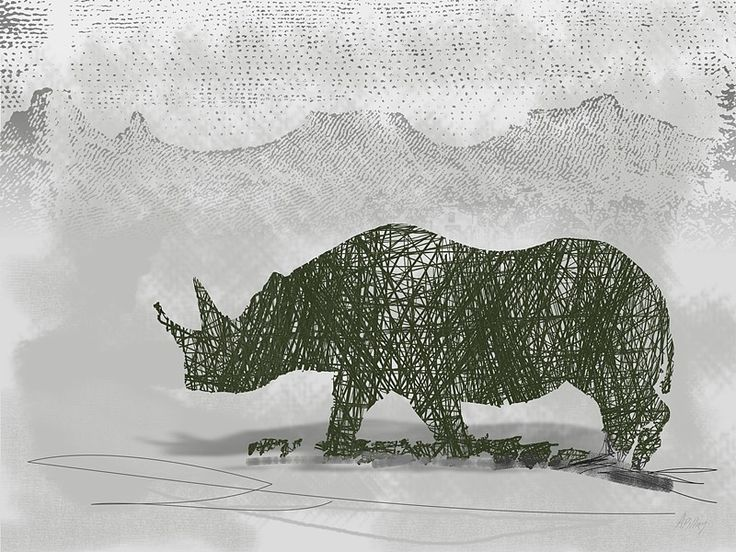 Rhino  by André Pillay - Art prints on www.digitalgallery.co.za  #wildlife  #rhino   #wallart   #printwild  #southafricanart