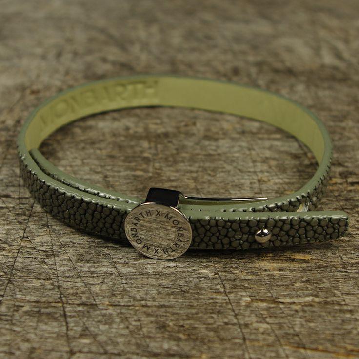 Bracelet Galuchat Gris Simple Tour MONBARTH