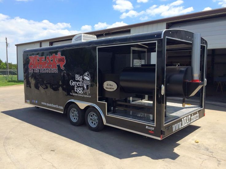 Ready to take your BBQ game to the next level?  Put an El Rey Offset and/or Vertical Smoker on your enclosed porch trailer.  Join the likes of BBQ Pitmasters' Big Moe Cason and Matt Pittman of Meat Church BBQ.  They had El Rey Smokers build custom mounted pits for their trailers.  Great for taking to