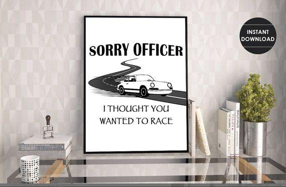 Police Humor Print  Funny Officer Print    by KingdomCreationsLLC