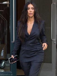 海外セレブスナップ | Celebrity Style: 【キム・カーダシアン】パンツスーツ姿もウエストをキュッとキム流にしてイベントへ!