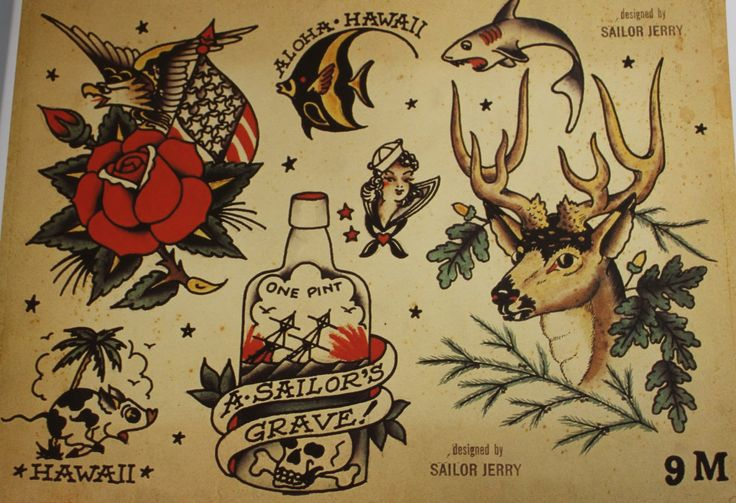 american traditional flash tattoo designs - Google Search ...