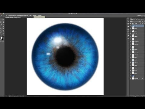 Creating Realistic Eyes using the Iris Parts Photoshop & GIMP Brushes | Obsidian Dawn