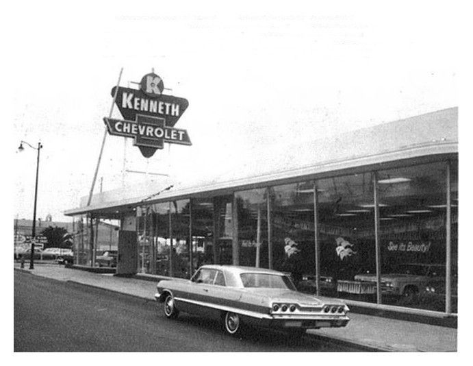 1960 S Kenneth Chevrolet Dealership Hawthorne California